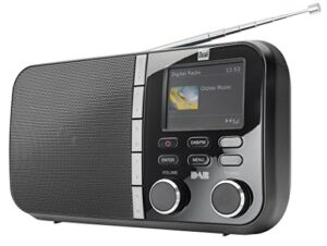 DAB Radio Test Dual DAB 4 C Digitalradio (UKW-/DAB(+)-Tuner, Sendespeicherfunktion, 6,1 cm (2,4 Zoll) TFT-Farbdisplay, Kopfhöreranschluss) schwarz
