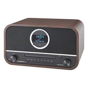 DAB Radio Test Albrecht DR790CD Digitalradio DAB+, 27790, multifunktional inkl. CD-Player und Bluetooth, Holzgehäuse in Dunkelbraun