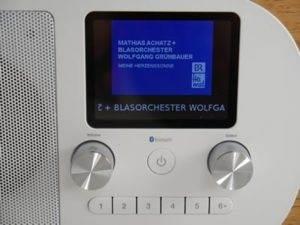 Display eines Digitalradios