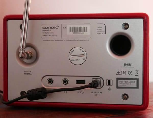 Sonoro CD 2 Test Rückseite