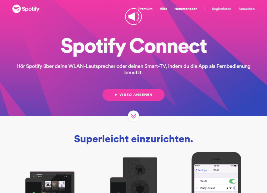 Spotify Connect Geräte
