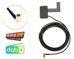 Aktive DAB+ Scheibenantenne - Scheibenklebeantenne für DAB Empfang - Für alle Geräte mit SMB-Anschlüsse - Für Pioneer, Kenwood, JVC, Alpine Radios