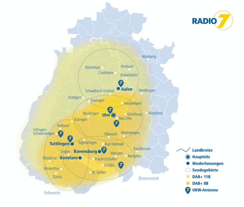 Radio7 Sendegebiet