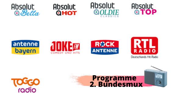 Antenne Deutschland mit Details zum Bundesmux 2